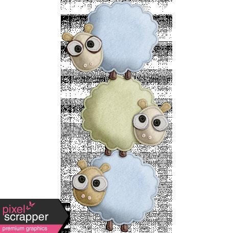 The Nerd Herd - Felt Sheep Pile 1