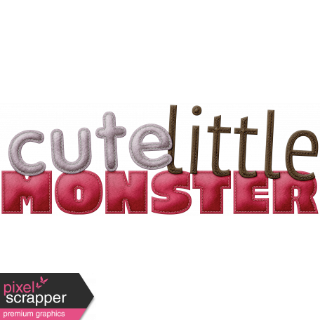 Be Mine - Cute Little Monster Word Art