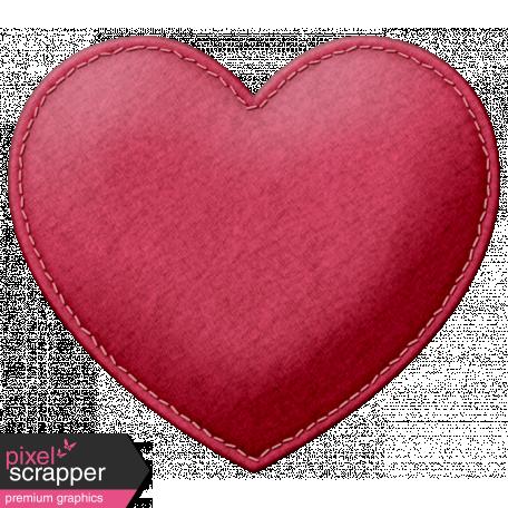 Be Mine - Red Felt Heart