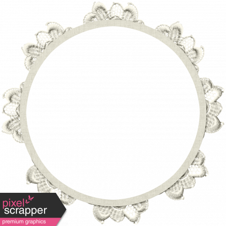 Country Wedding - Round Lace Frame