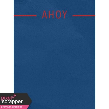 Arrgh! - Blue Ahoy Journal Card