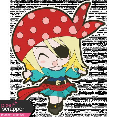 Arrgh! - Pirate Girl Sticker