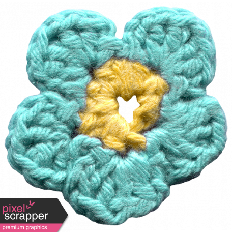 Arrgh! - Blue Crochet Flower