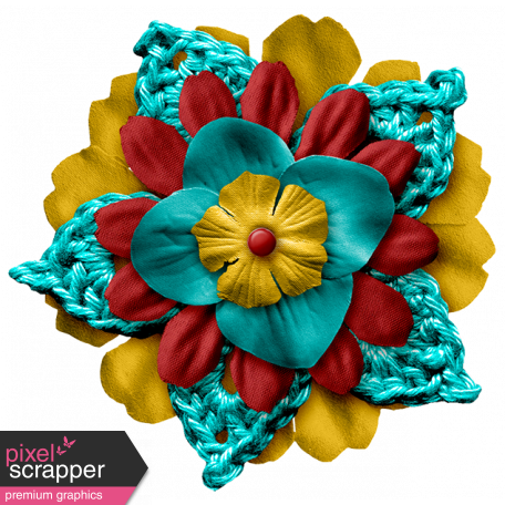 Arrgh! - Teal Stacked Flower