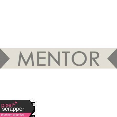 I Love You Man - Mentor - Label