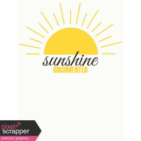 Sand & Beach - Sunshine Documented - Journal Card