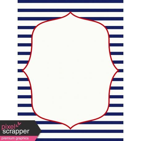 Sand & Beach - Nautical Stripes - Journal Card