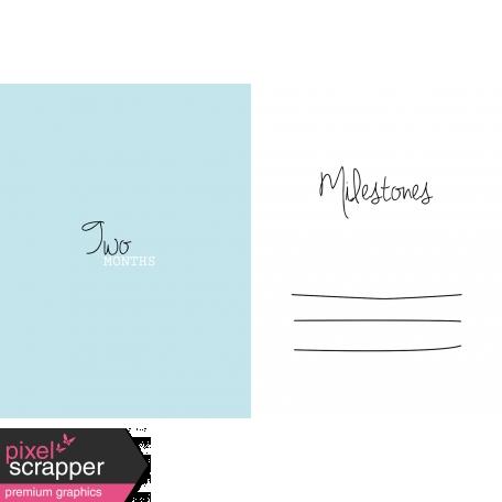 4x6 Milestone Journal Card, Blue, Month 2