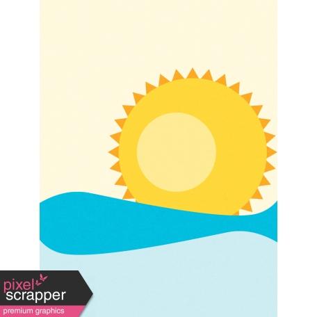 Sand & Beach - Sun - Journal Card
