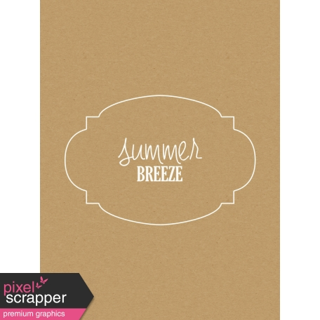 Sand & Beach - Summer Breeze - Journal Card