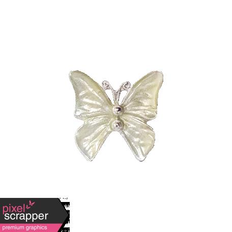 It's Elementary, My Dear - White Butterfly Charm 01