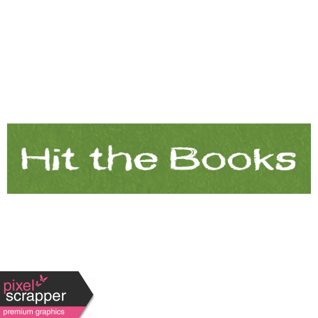 Hit the Books Word Art