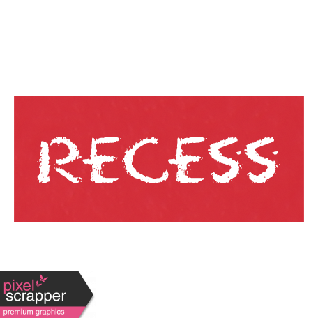 Recess Word Art