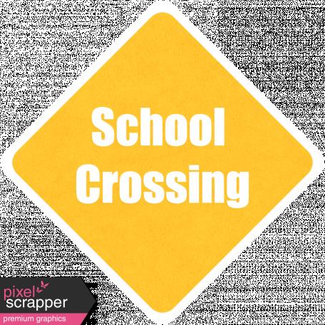 It's Elementary, My Dear - School Crossing Wordart