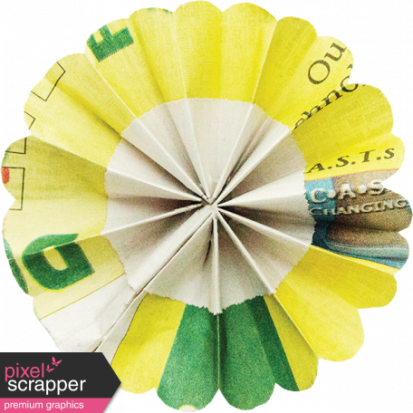 A Bouquet of Freshly Sharpened Pencils - Paper Flower 03