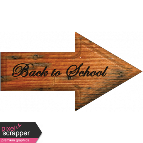 Back to School Word Art Arrow