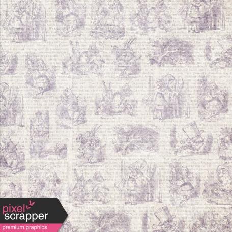 Dark Purple Alice In Wonderland Paper