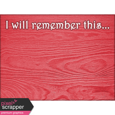 Reading, Writing, and Arithmetic - Remember Journal Card
