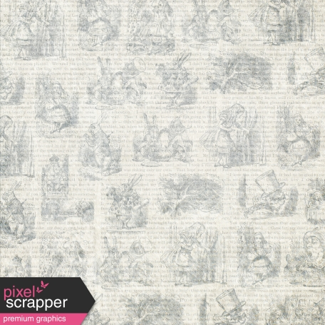 Light Gray Alice In Wonderland Paper