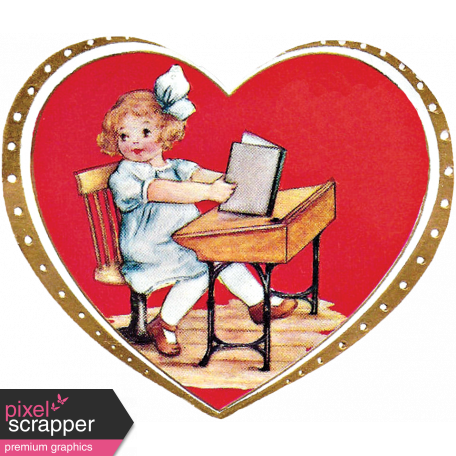 Reading, Writing, and Arithmetic - Valentine Card