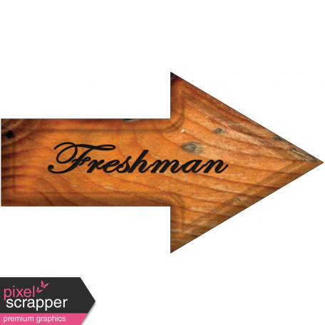 Freshman Word Art Arrow