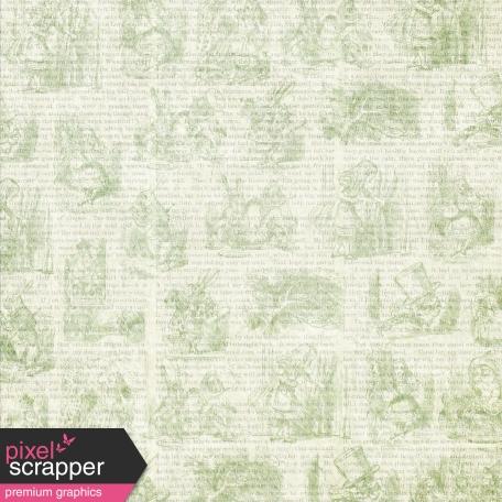 Green Alice in Wonderland Paper