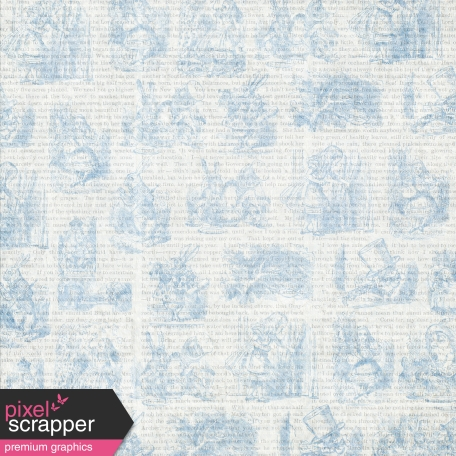 Light Blue Alice In Wonderland Paper