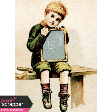 Reading, Writing, and Arithmetic - School Boy Card