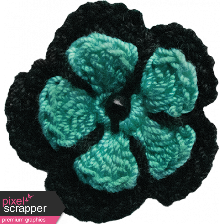 Teal Crochet Flower