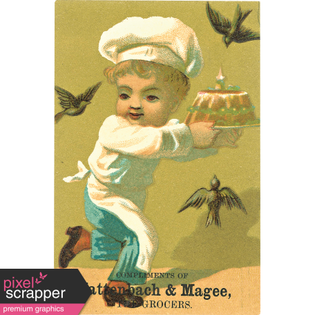 Vintage Advertisement Card 01