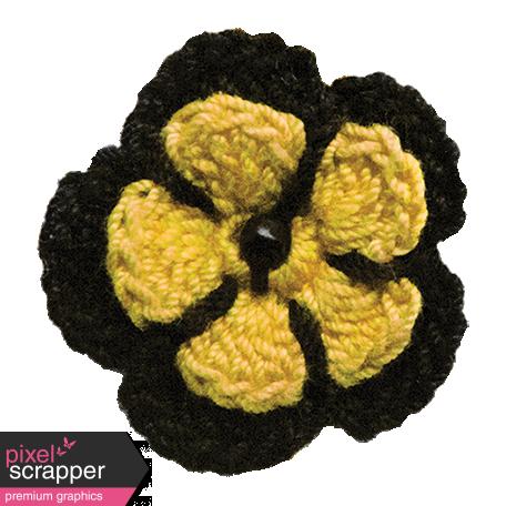 Yellow Crochet Flower