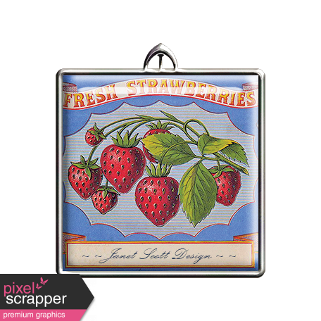 Square Strawberry Pendant
