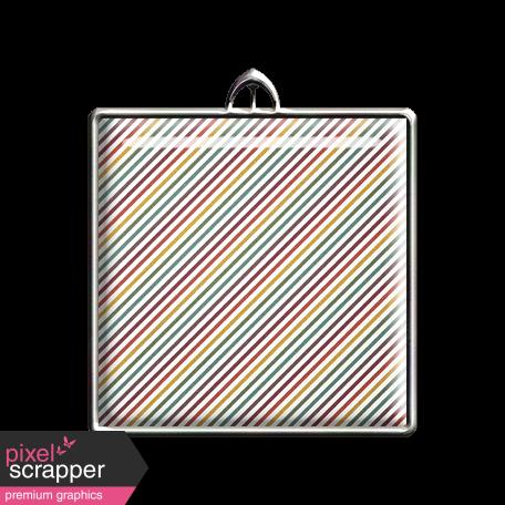 Square Striped Pendant