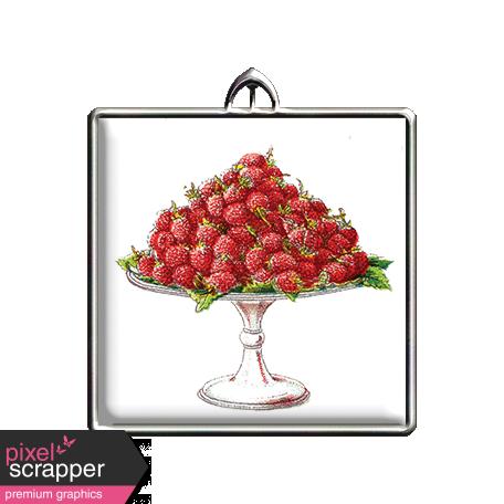 Square Raspberries Pendant