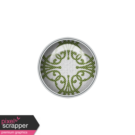 Green Scroll Patterned Brad