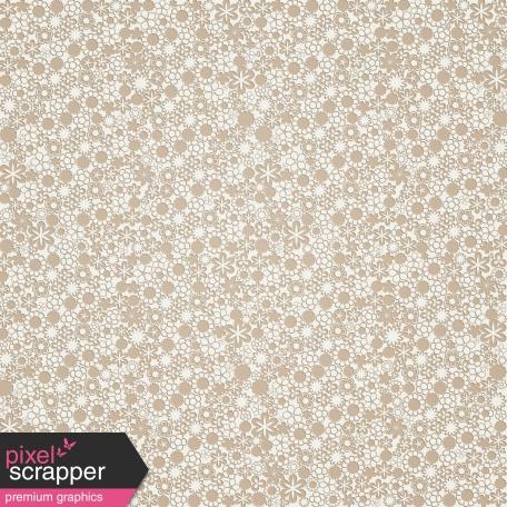 Tan and Cream Retro Flower Paper
