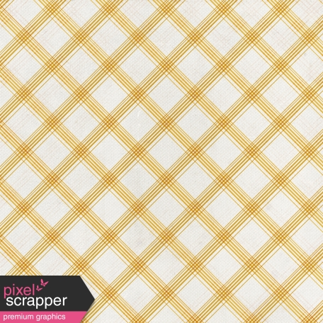 Grandma's Kitchen - Mustard Plaid Paper