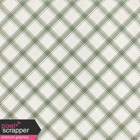 Grandma's Kitchen - Olive Plaid Paper