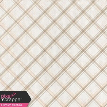 Grandma's Kitchen - Tan Plaid Paper