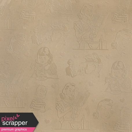 Tan Retro Embossed Paper