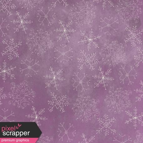 Winter Wonderland - Purple Doodle Snowflake Paper