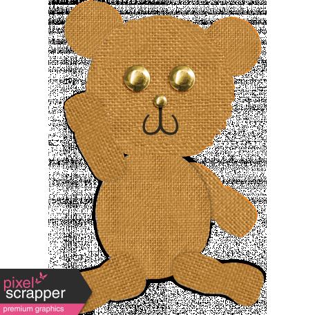 Tiny, But Mighty Burlap Teddy Bear