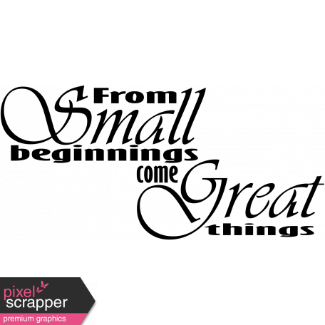 Tiny, But Mighty - Small Beginnings Wordart