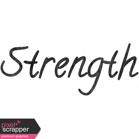 Tiny, But Mighty Strength Word Art graphic by Janet Scott