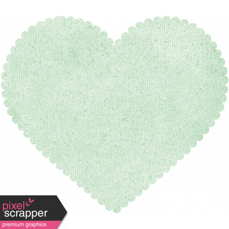 Be Mine - Mint Scalloped Heart