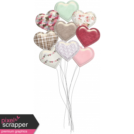 Be Mine - Unshadowed Glossy Heart Balloon Bouquet