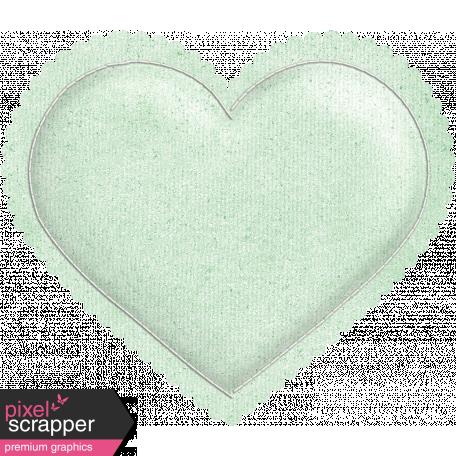Be Mine - Mint Green Puffy Heart