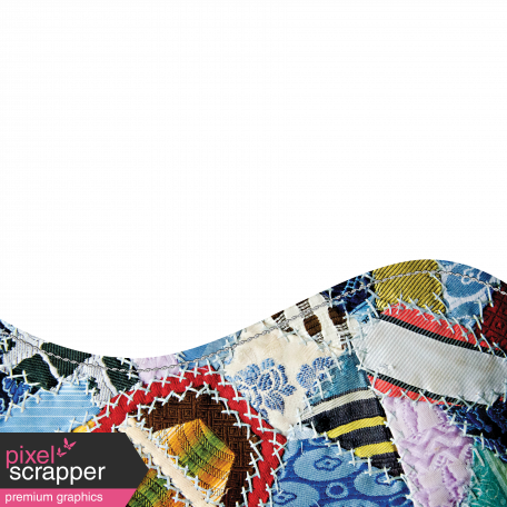 Quilted With Love - Horizontal Curved Border