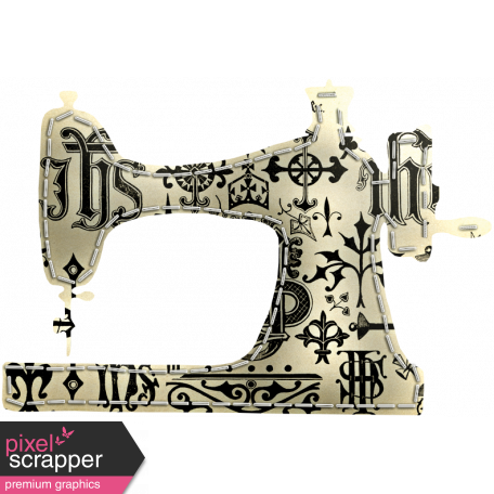 Quilted With Love - Quilted Black & Cream Sewing Machine