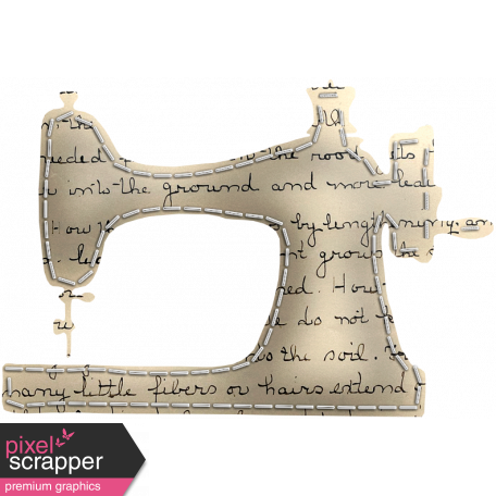 Quilted With Love - Quilted Handwriting Sewing Machine